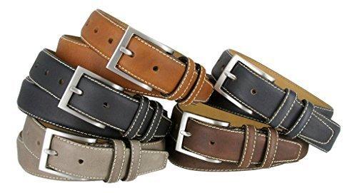 Classic Genuine Leather Office Career Casual Dress Belt (Tan, 34)