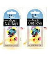 Cat Toys Striped Mouse Small Mice Rattling Made Out Of String 2 Packs Of... - $8.90