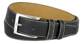 Classic Genuine Leather Office Career Casual Dress Belt (Navy, 38) - $19.30