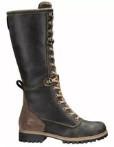 TIMBERLAND WOMEN'S DARK BROWN WHEELWRIGHT TALL LACE-UP BOOT SIZE:7M - $3.532,09 MXN