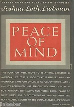 Peace of Mind by Joshua Loth Liebman;1948 HCDJ;Behavioral Aspects of the... - $9.97
