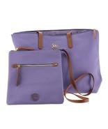 JOY Leather Handbag Crossbody Shopper Tote Lavender One Size NEW 612-015 - $59.38