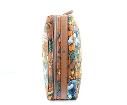 Vintage 70s Mid Century Modern MCM All Over Floral Print Handled Luggage... - $59.35