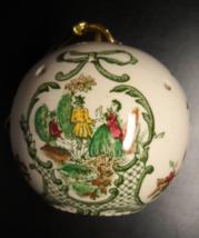 Floris London England Round Pierced Pomander Christmas Ornament Gold Cor... - $11.99