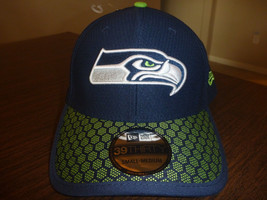 f9c219cc2ff99f SEATTLE SEAHAWKS NEW ERA 39THIRTY 2017 ON FIELD SIDELINE BLUE FITTED HAT...  -