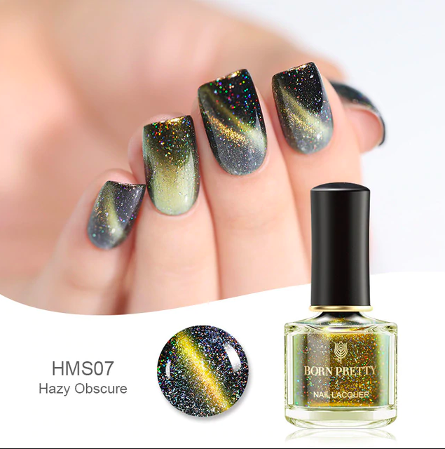 HOLOGRAPHIC 3D MAGNETIC SERIES Glitter Varnish Magnet Nail Art Lacquer image 5