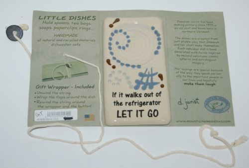 Mountaine Meadows Pottery 8750D Handmade Little Dishes Spoon Rest Let It Go