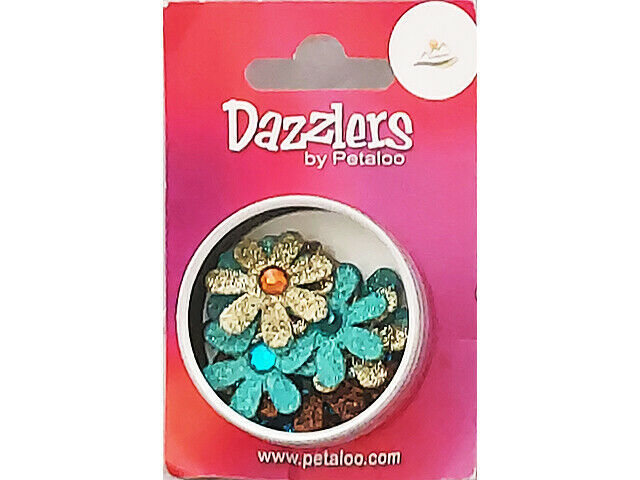Petaloo Dazzlers Florets Mix with Rhinestone Centers #1363-110