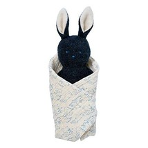 Manhattan Toy Embroidered Plush Bunny Baby Rattle + Soft Cotton Burp Clo... - $19.99