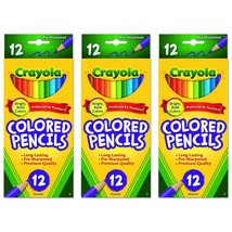 Crayola Colored Pencils Long Lasting Pre-Sharpened, 12 Count (PACK OF 3) - $8.98