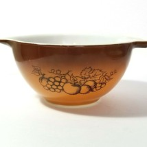 Pyrex Old Orchard Fruit Nesting Mixing Bowl Brown 1 1/2 pt. # 441 - $9.90