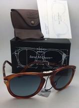 Steve McQueen PERSOL Folding Sunglasses 714-SM 96/S3 54-21 Havana+Blue P... - $499.95
