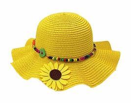 PANDA SUPERSTORE Beautiful Summer Straw Beach Sunflower Yellow Girl Hat