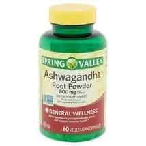 Spring Valley Ashwagandha Root Powder Vegetarian Capsules, 800 Mg, 60 Count - $18.80