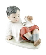 """Lladro #5988 """"Taking Time"""" Boy Leaning Back with Dog Great Condition Ret... - $178.20"""