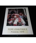 Pope John Paul II 1979 Poland Framed 11x14 Photo Poster Display - $32.36