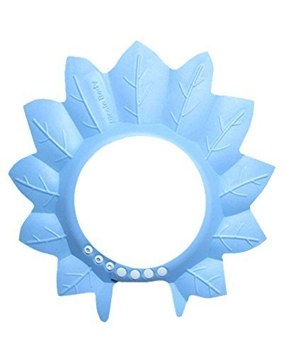 Creative Children's Bath Cap / Shower Hat Can Be Adjusted Blue Maple Leaf