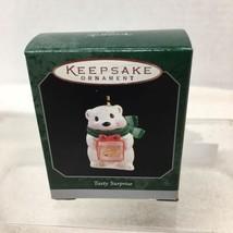 1998 Tasty Surprise Mini Hallmark Christmas Tree Ornament MIB w Price Ta... - $9.41