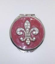 Compact Mirror - Fleur De Lis Silver - $16.34