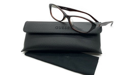 GUESS GU2417 BRN Women's Plastic Eyeglasses Frames 52-15-135 Brown + CASE cateye - $31.98