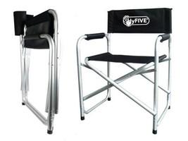 Hyfive Administration Président de Pliage en Aluminium avec siège Noir B... - $57.52