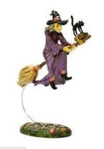 Department 56 Halloween Village Midnight's Last Ride Witch and Black Cat - €19,80 EUR