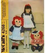 """McCall's 4268 RAGGEDY ANN & ANDY 36"""" Doll Pattern OOP - $21.99"""