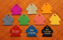 Custom Engraved DOUBLE SIDED Tag Pet ID  FIRE H... - $3.50