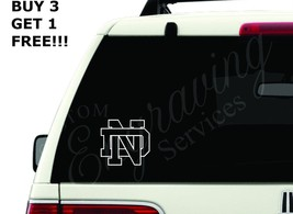 "NOTRE DAME  (4""X3.75"") CAR WINDOW DECAL STICKER... - $4.50"