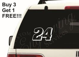 """24 JEFF GORDON NASCAR (5""""X3.25"""") CAR WINDOW DEC... - $4.50"""