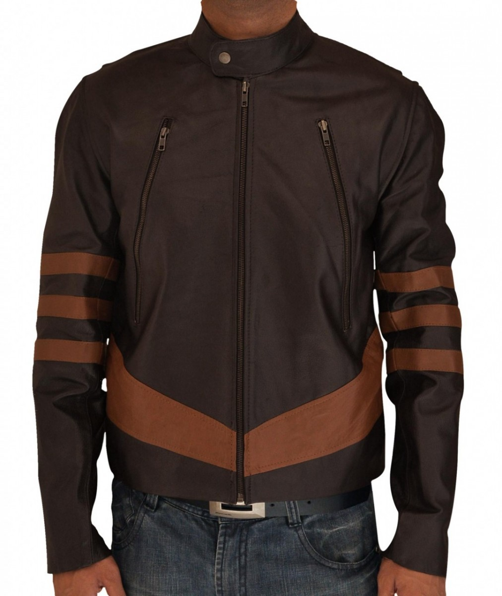 X Men Wolverine Logans Brown Leather Jacket