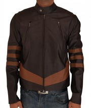 X Men Wolverine Logans Brown Leather Jacket - $129.00