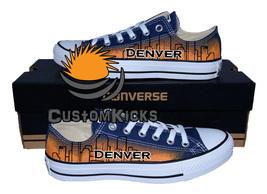 Painted converse sneakers, Denver, Skyline, Handpainted shoes - $59.00+