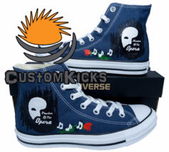 Painted converse sneakers, Phantom Of The Opera, Fanart, Handpainted shoes - $59.00+