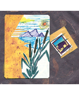 ACEO Blank Mountain Landscape w/Cancelled Stamp - $4.95