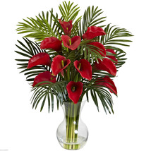 Calla Lily & Palm Combo Artificial Silk Flower/Plant Home/Office Decorat... - $91.99