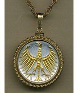 "German 5 mark Silver coin ""Eagle"" coin jewelry pendant necklace - $167.00"