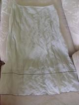 ANNE KLEIN LIGHT GREEN LONG SKIRT - SIZE 12 - $29.99