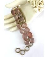 Handmade Rose Quartz 925 Sterling Silver Bracelet - $124.00