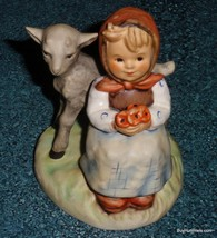 """ADORABLE """"Good Friends"""" Goebel Hummel Figurine #182 TMK6 Girl With Lamb ... - $58.19"""