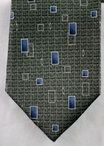 Pierre Cardin Gray Grey White Blue Squares 100% Silk Men's Tie Made In USA NWOT - $7.99