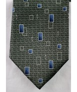 Pierre Cardin Gray Grey White Blue Squares 100% Silk Men's Tie Made In U... - $7.99