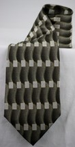 Pierre Cardin Brown Tan Gray Grey Abstract 100% Silk Men's Tie Made In USA NWOT - $8.99