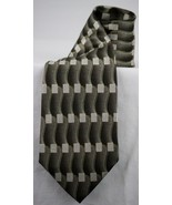 Pierre Cardin Brown Tan Gray Grey Abstract 100% Silk Men's Tie Made In U... - $8.99