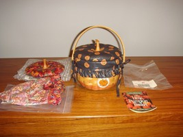Longaberger 1997 Small Halloween Pumpkin Basket Plus Lids - $108.99