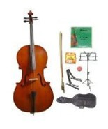 Lucky Gifts 4/4 Size Cello,Bag,Bow+Rosin+Extra Strings+Tuner+2 Stands ~ ... - $138.88