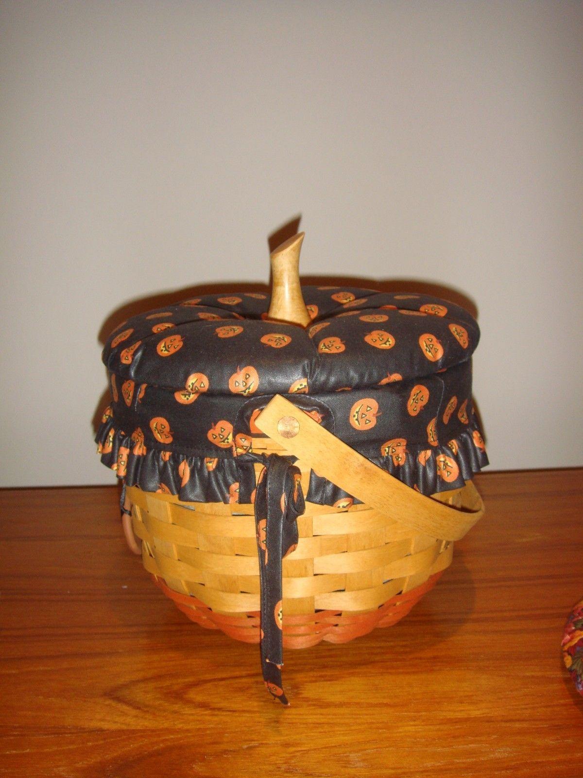 Longaberger 1995 Halloween Pumpkin Basket Plus Lids