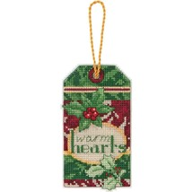 Cross Stitch Kit Glad Tidings Warm Hearts Christmas Ornament #70-08892 O... - $6.43