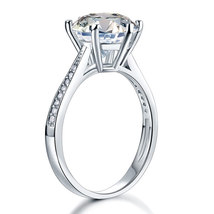 925 Sterling Silver Bridal Wedding Engagement Ring 3 Ct Lab Created Diamond - $79.99