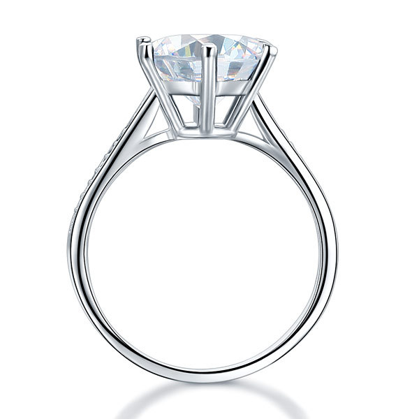 925 Sterling Silver Bridal Wedding Engagement Ring 3 Ct Lab Created Diamond
